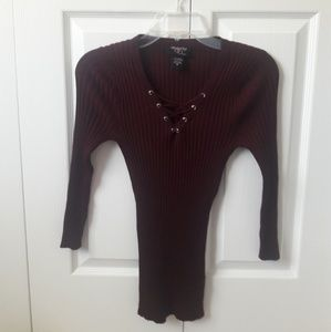 Hooked Up Ribbed Long Sleeve Top